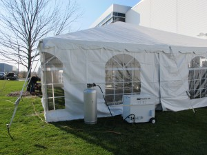 Tent with Heater